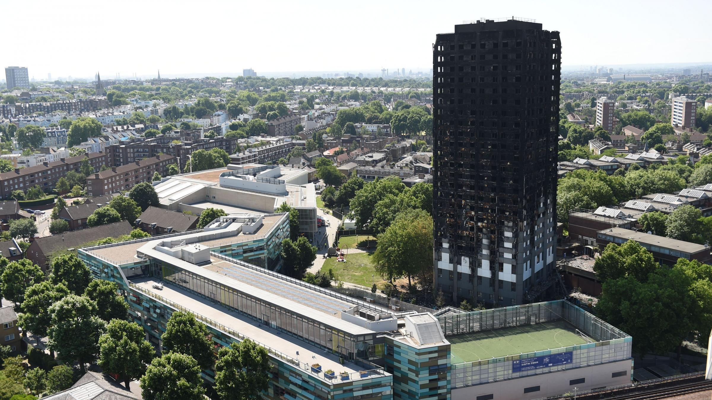Cladding used in London's Grenfell Tower is 'banned in Britain'